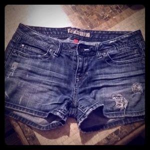 BKE denim short shorts